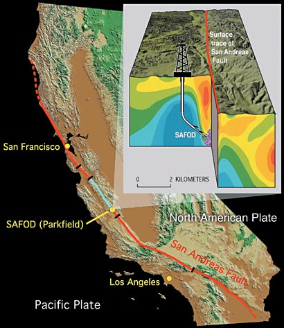 VIPs And Media Tour Drill Site Along The San Andreas Fault - San andreas fault on us map