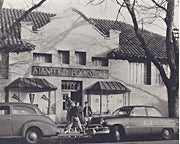 The old Stanford Bookstore in the 1940s.