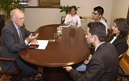 Four Iraqi students visit university for 10 days as part of exchange