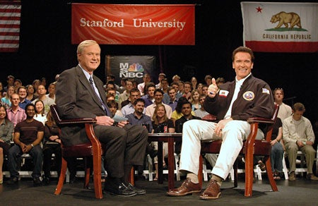 Chris Matthews and Gov. Arnold Schwarzenegger