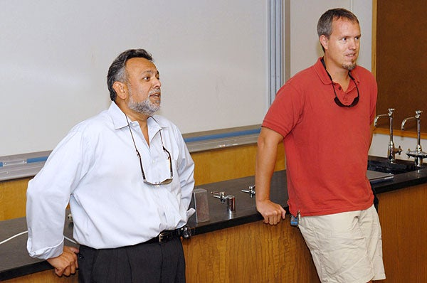 Biological sciences Professor Shripad Tuljapurkar and anthropological sciences Assistant Professor James Holland Jones