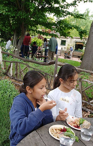 Adriana Villanueva and Kathia Angel enjoy the fruits of their labors