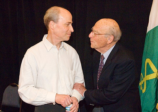 Roger Kornberg and father Arthur Kronberg