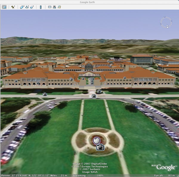 Stanford Quad in Google Earth