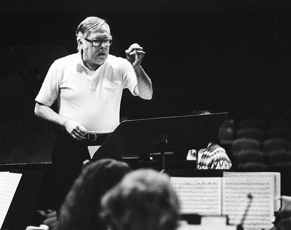 Andor Toth conducts the Stanford Symphony in 1981