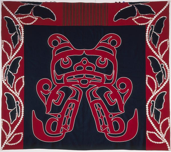 Chief's Regalia (button blanket), by Maxine Matilpi