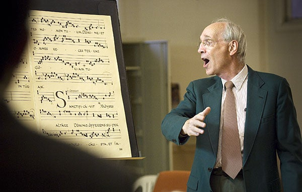 William Mahrt directs the St. Ann Choir