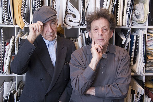 Philip Glass and Leonard Cohen