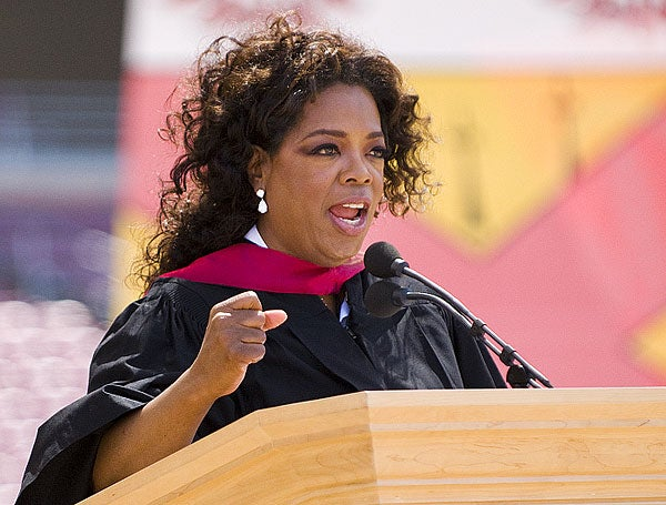 oprah winfrey speech Oprah winfrey delivered an affecting and rousing speech tonight at the 75th  golden globe awards, and let's just say the commission on.