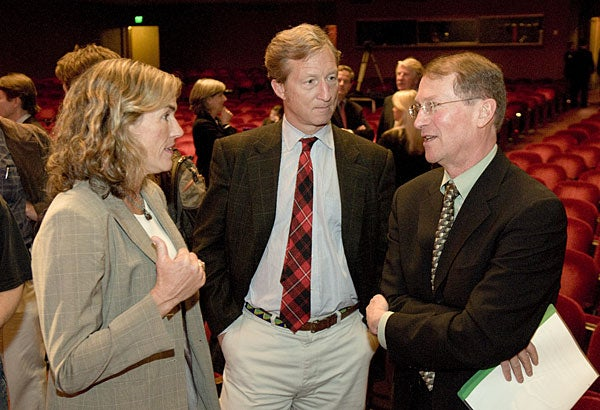 Donors Kat Taylor and Thomas Steyer