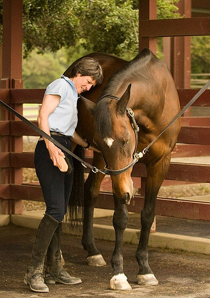 Maggie Kimball with horse