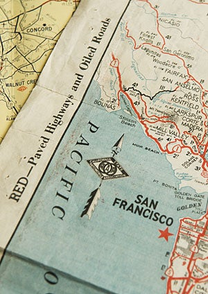 Aaa California Map.Historical Aaa Maps Of California Find Their Way To Stanford Library