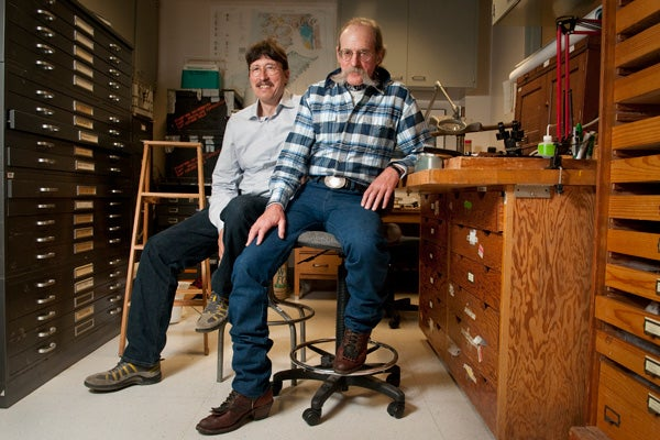 Minik Rosing, a geology professor at the Natural History Museum of Denmark, University of Copenhagen, and Dennis K. Bird, professor of geological and environmental sciences at Stanford.