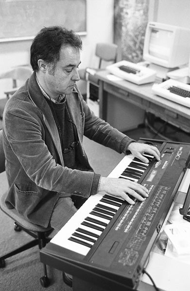 John Chowning playing the Yamaha DX7 Synthesizer at Center for Computer Research in Music and Acoustics