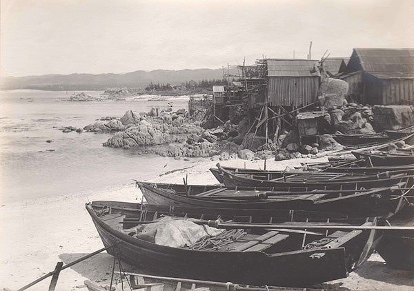 Historical photo of fishing village