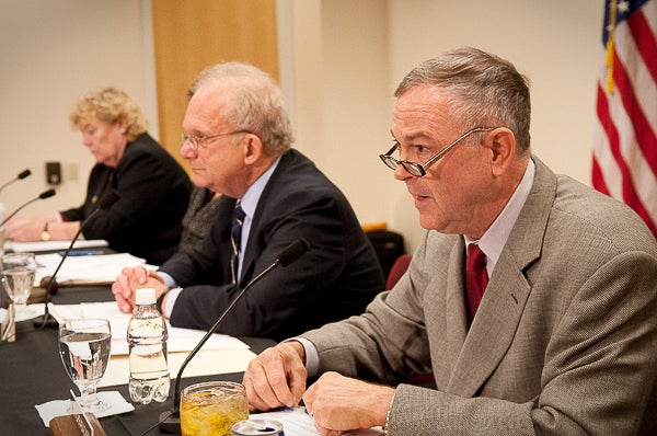 Among the lawmakers at the hearing were (from left) Zoe Lofgren, committee chairman Howard Berman, and Dana Rohrabacher.