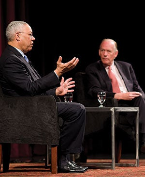Former Secretary of State Colin Powell's March 2 talk at Memorial Auditorium drew alumni, students, faculty and staff.