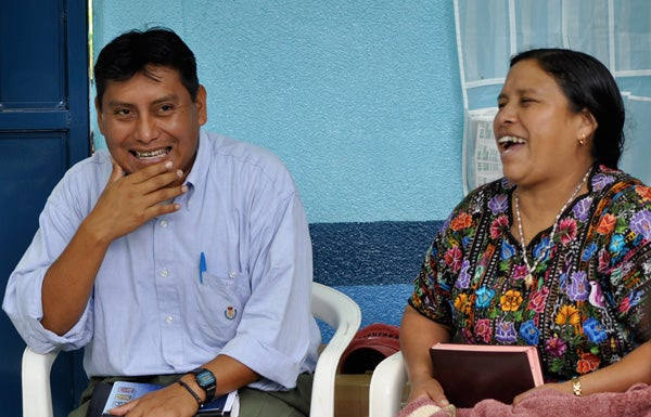 Vicente Macario and Dominga Pic Salazar help train and coordinate volunteer groups of health promoters.