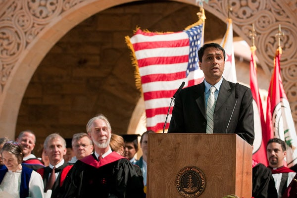 Eboo Patel gave the Baccalaureate address entitled 'Acts of Faith.'