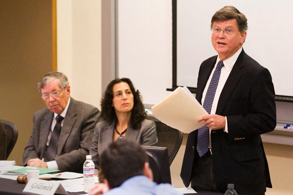 David M. Kennedy at Faculty Senate meeting