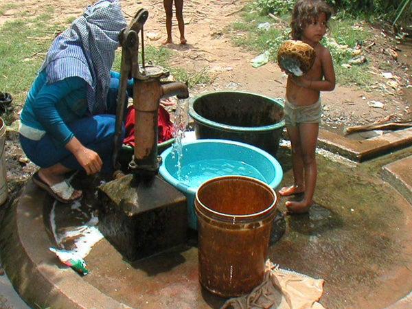 Millions of people in Cambodia and other countries in southern Asia are exposed to unhealthy levels of naturally occurring arsenic in their drinking water.