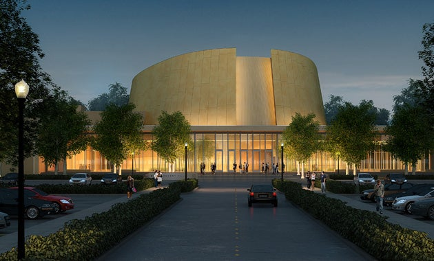 Rendering of the Bing Concert Hall