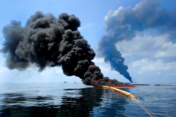 In situ burn at Deepwater Horizon site