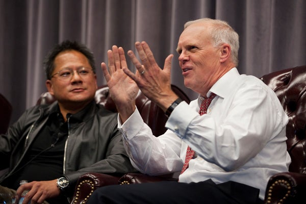 Jen-Hsun Huang and John Hennessy