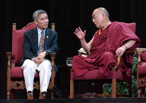 Thupten Jinpa and the Dalai Lama