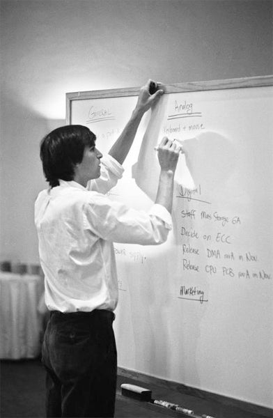 Steve Jobs at whiteboard