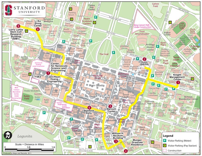 stanford campus map pdf A Self Guided Tour Of New Campus Sights stanford campus map pdf