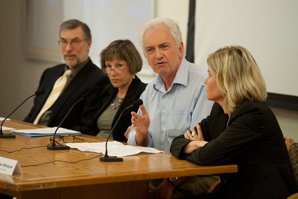 Panelists discussing 'The Humanities and the Dream of America'