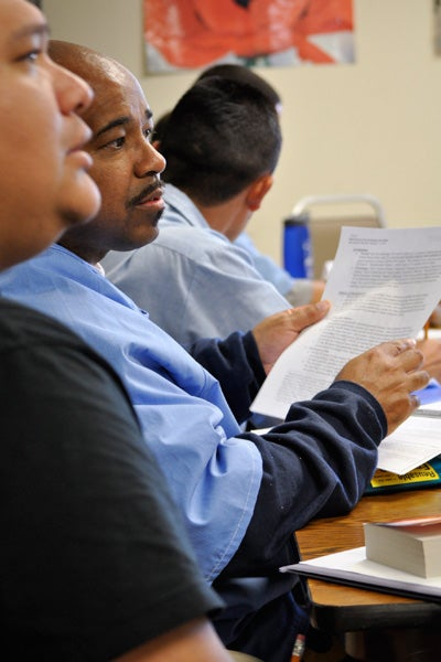 Stanford doctoral student Ronmel Navas and San Quentin inmate Philip Senegal