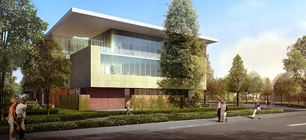 Artist's rendering of the Jill and John Freidenrich Center for Translational Research