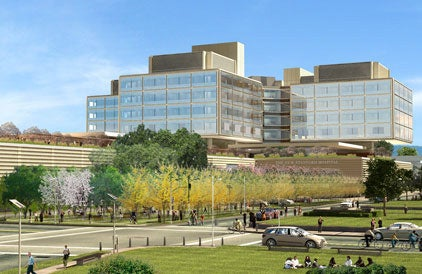 Artist's rendering of the new Stanford Hospital