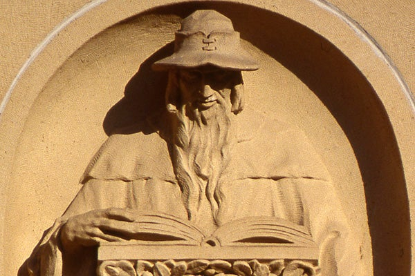 Bas relief from Green Library