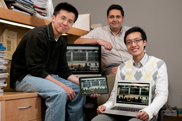 Postdoctoral student Ngai-Man Cheung and graduate students Sherif Halawa and Derek Peng