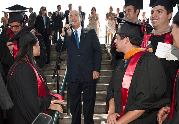 Felipe Calderon with students