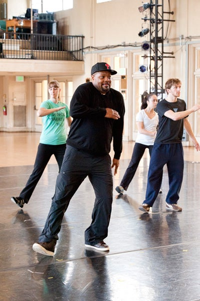 Rennie Harris teaching the techniques of early hip-hop