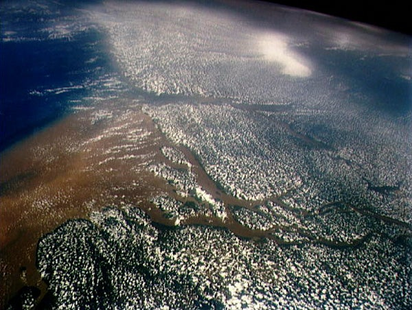 View from space of the mouth of the Amazon River