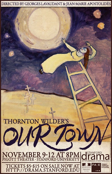 Poster for upcoming production of 'Our Town'