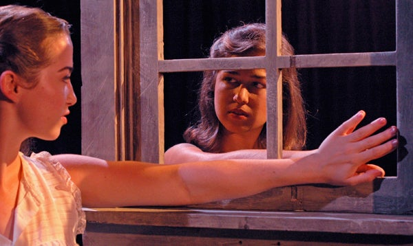 Bronwyn Reed and Xandra Clark in 'Our Town'