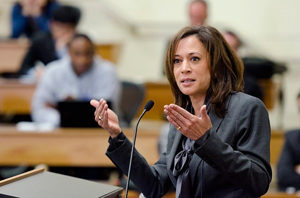 Kamala Harris speaking to Stanford audience