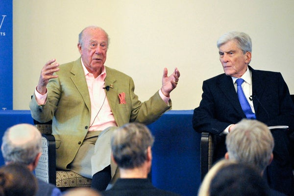 George Shultz and John Warner
