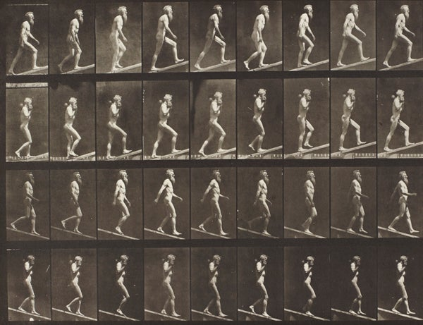 Eadweard Muybridge's 'Turning Around in Surprise and Running Away'