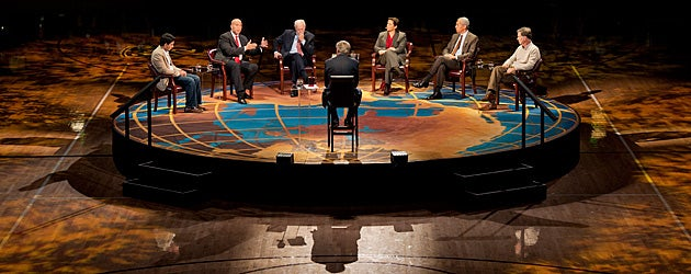 Charlie Rose and complete Roundtable panel