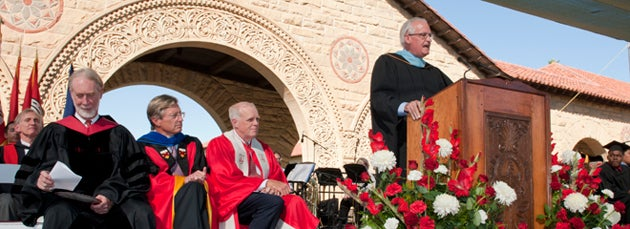 Dean of Admission Rick Shaw speaking at Convocation