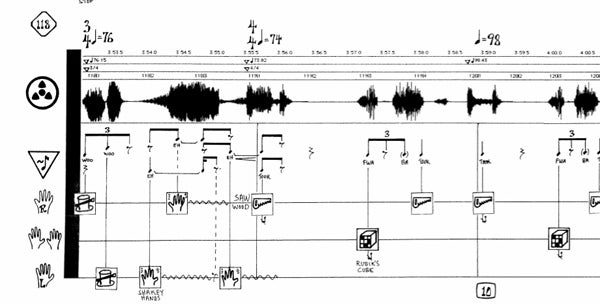 Detail of Mark Applebaum's 'Aphasia' score