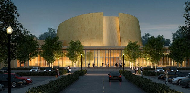 Artist rendering of the Bing Concert Hall