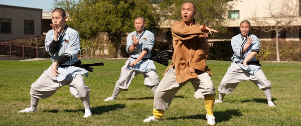Shaolin monks teaching class at Stanford